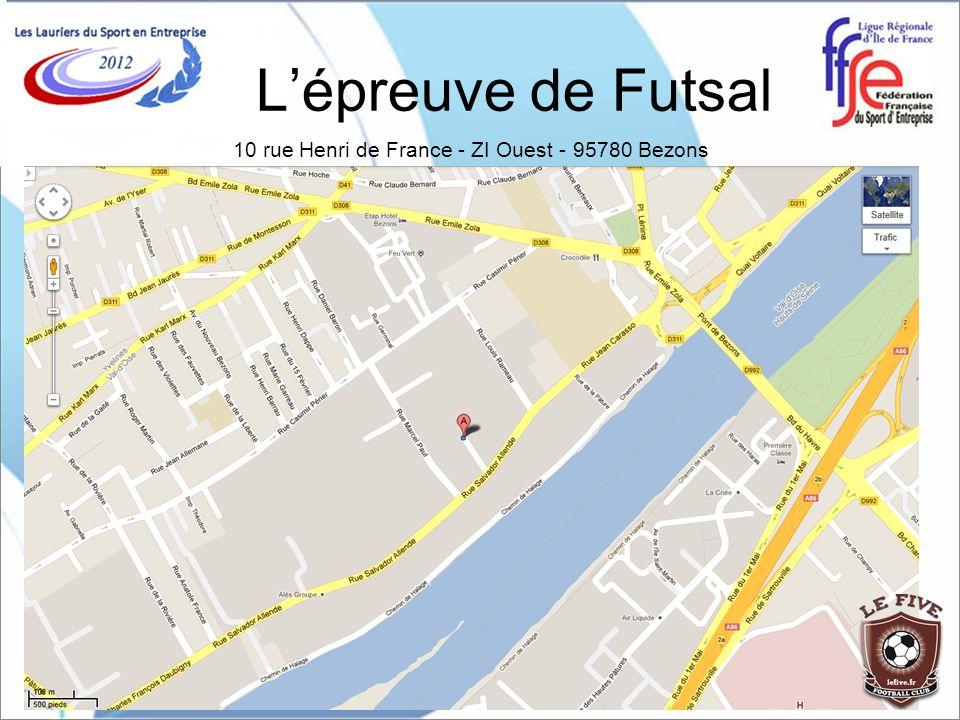 Les conditions dinscription Lépreuve de Futsal est ouverte : A toutes les entreprises du secteur privé comme du secteur public, aux administrations, aux collectivités et aux groupements professionnels affiliés à la FFSE.