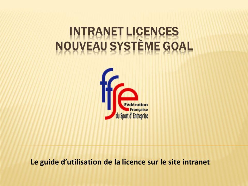 Le guide dutilisation de la licence sur le site intranet