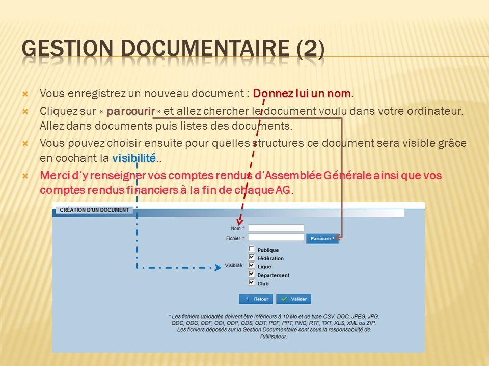 Donnez lui un nom Vous enregistrez un nouveau document : Donnez lui un nom. parcourir Cliquez sur « parcourir » et allez chercher le document voulu da