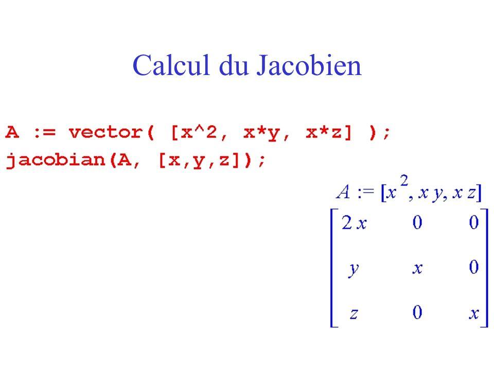 Calcul du Jacobien