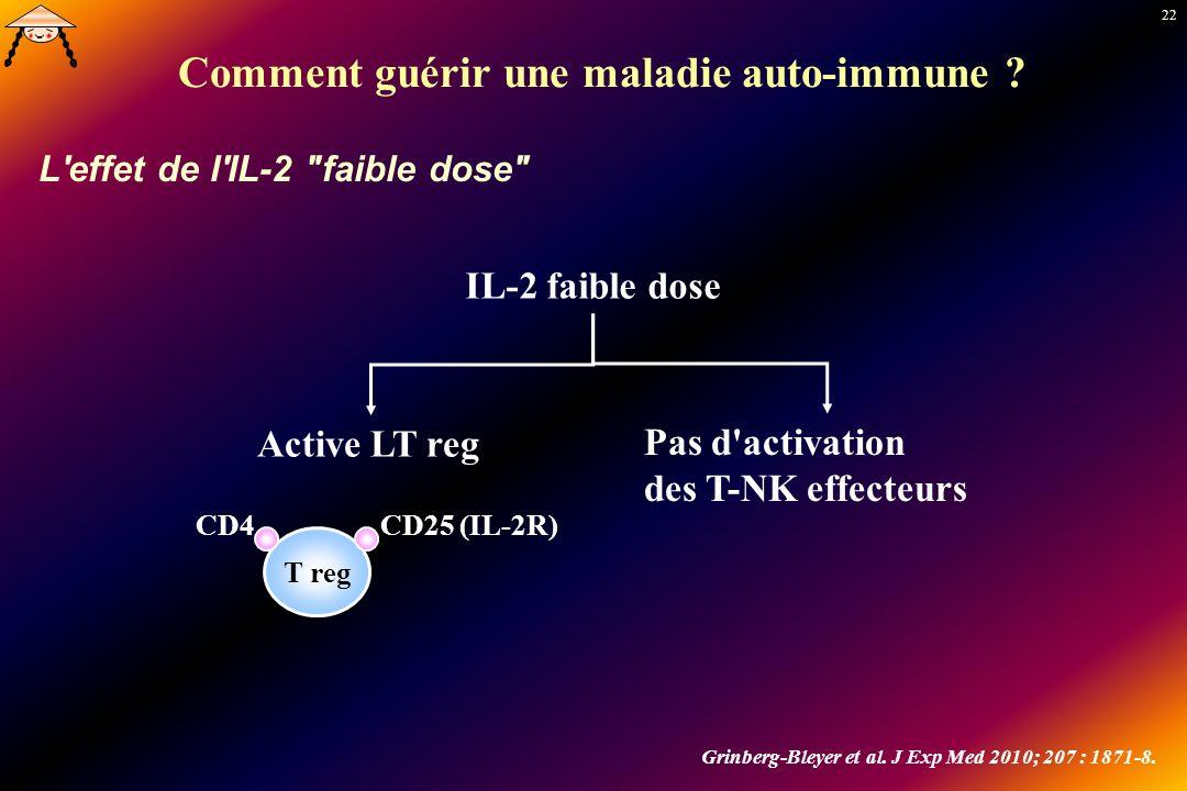 22 Comment guérir une maladie auto-immune ? L'effet de l'IL-2