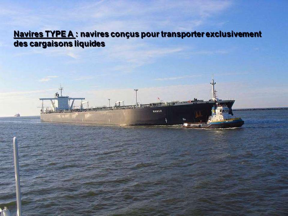 321BACH/3GRAD-Stabilité-Chapitre 1 Navires TYPE A : navires conçus pour transporter exclusivement des cargaisons liquides