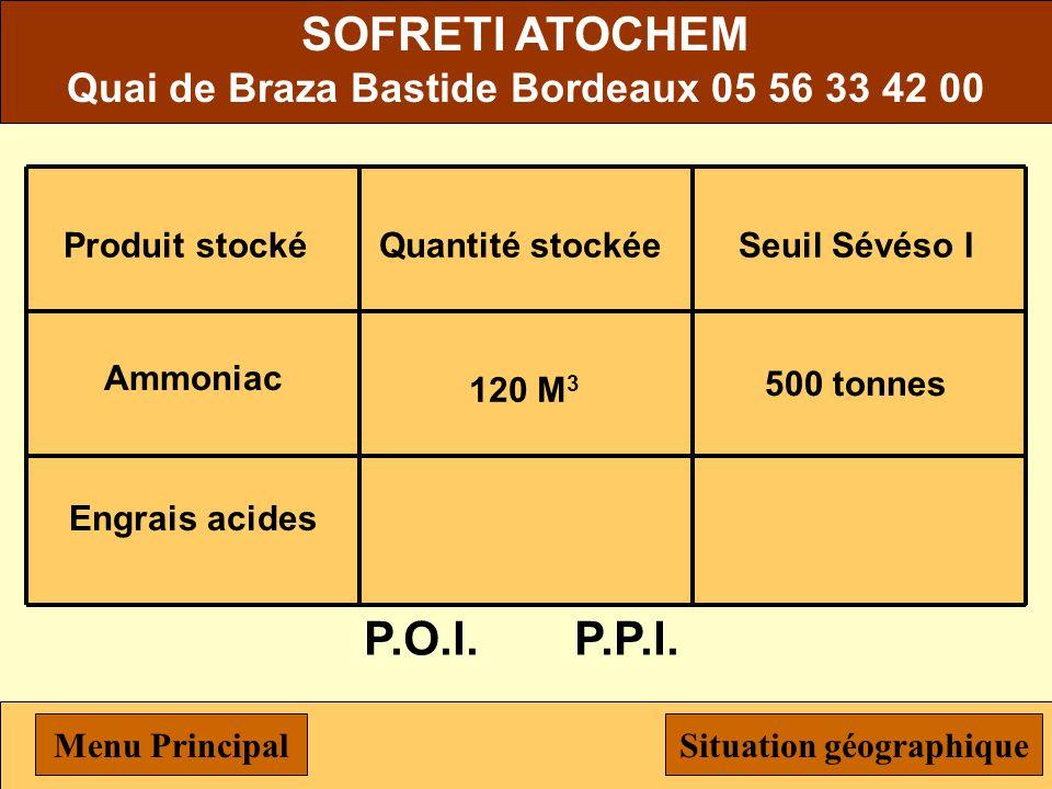 Michelin 111 Boulevard Alfred Daney, 33074 Bordeaux, 05 56 29 24 09 P.O.I.P.P.I. Nickel175 tonnes Produit stocké Cobalt Quantité stockée 6 tonnes Seui