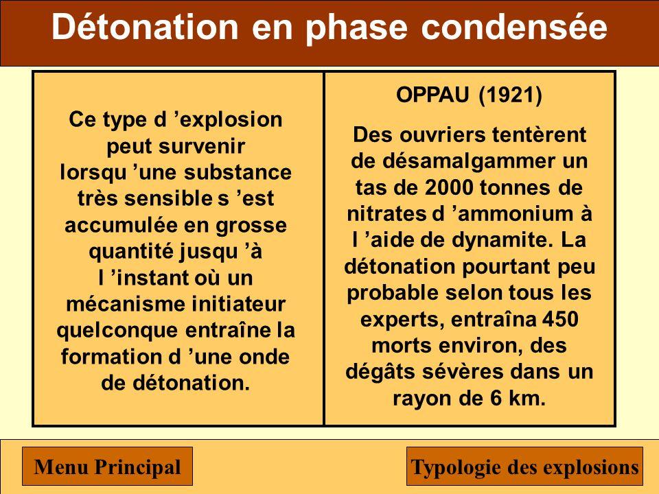 Explosion confinée vapeur ou poussière Est une explosion confinée vapeur ou poussière et susceptible de se produire dès qu un mélange combustible de g