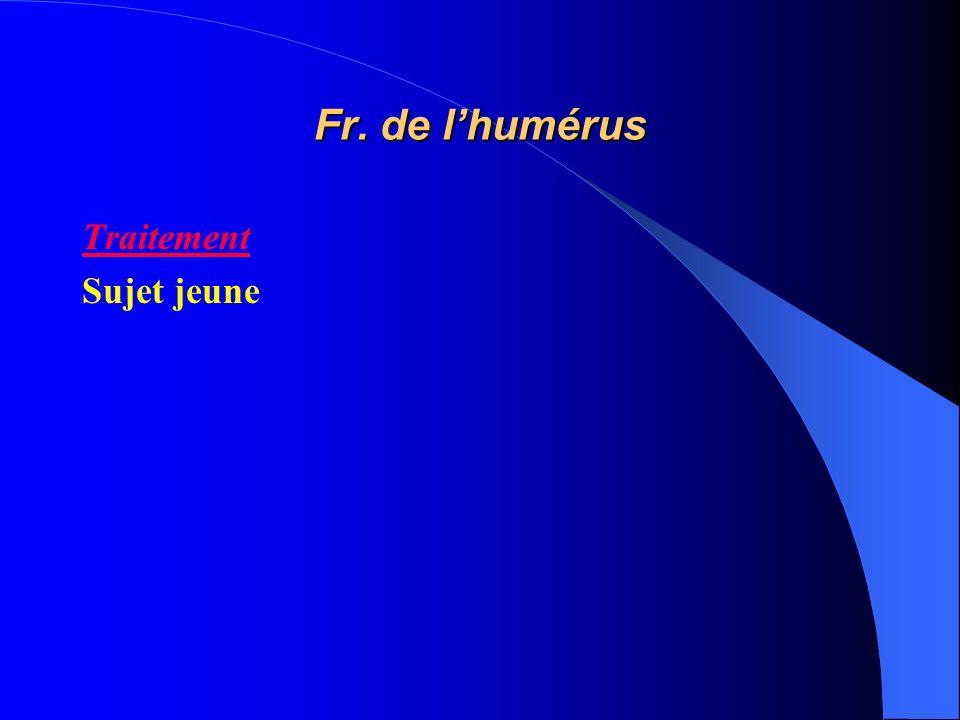 Fr. de lhumérus Traitement Sujet jeune