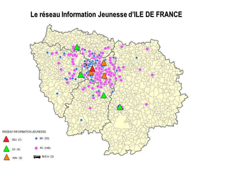 Le réseau Information Jeunesse de PARIS CIDJ : 1 PIJ : 20