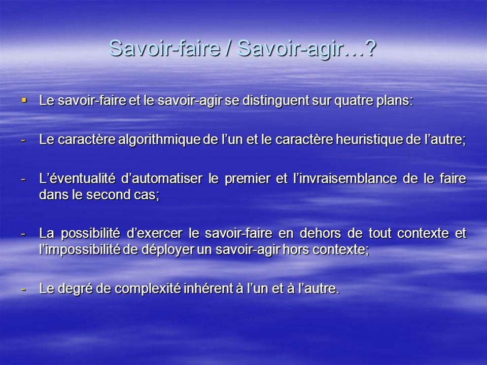 Les caractéristiques dune compétence Un caractère intégrateur: chaque compétence fait appel à une multitude de ressources de nature variée.