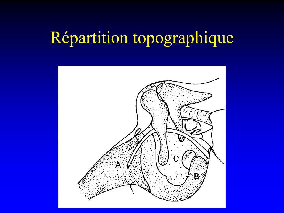 Répartition topographique