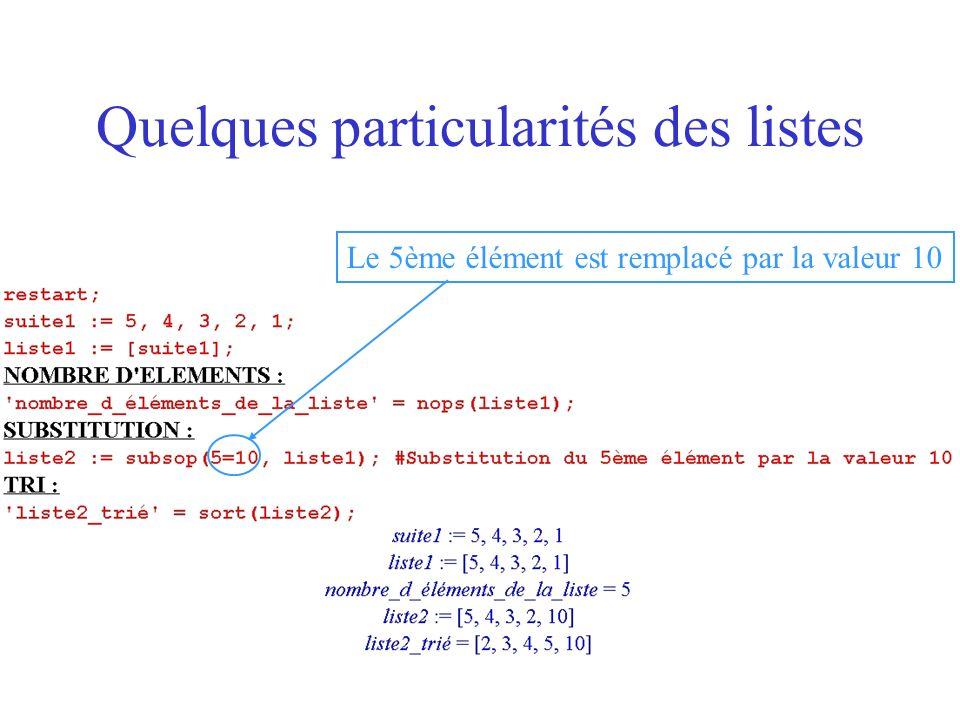 Extraction dune sous-liste par un critère (fonction booléenne) sur la liste On utilise la commande select