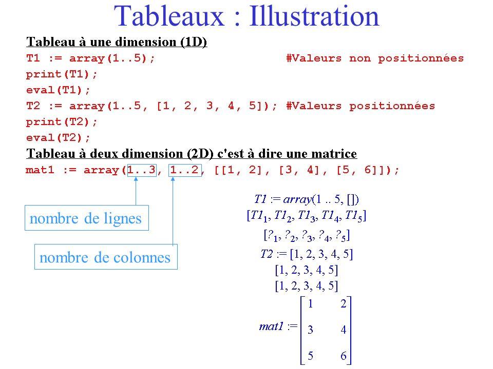 Liste Tableau Pour passer dune liste de liste à un tableau on utilise la commande convert(…, array).