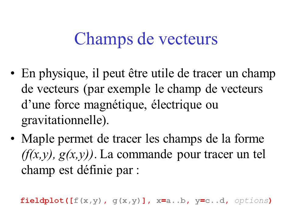 Champs de vecteurs