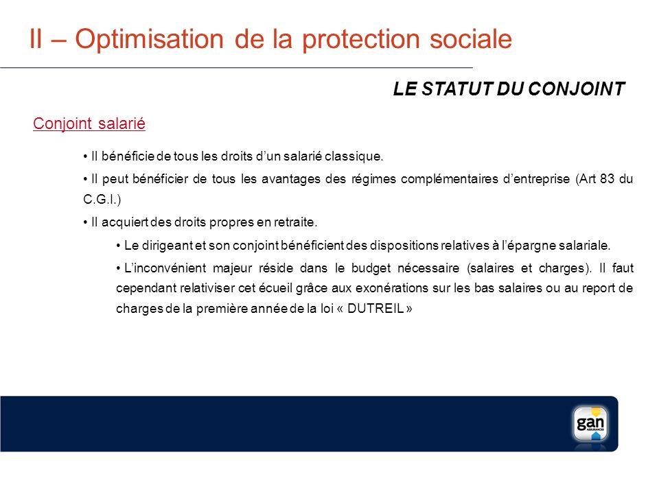 II – Optimisation de la protection sociale QUEL NIVEAU DE PROTECTION .