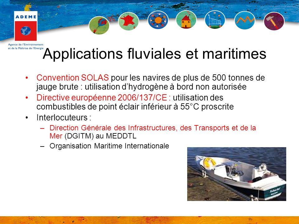 Applications fluviales et maritimes Convention SOLAS pour les navires de plus de 500 tonnes de jauge brute : utilisation dhydrogène à bord non autoris