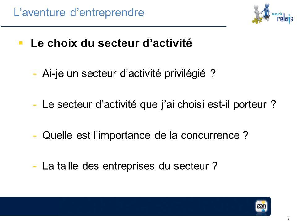 7 Le choix du secteur dactivité -Ai-je un secteur dactivité privilégié .
