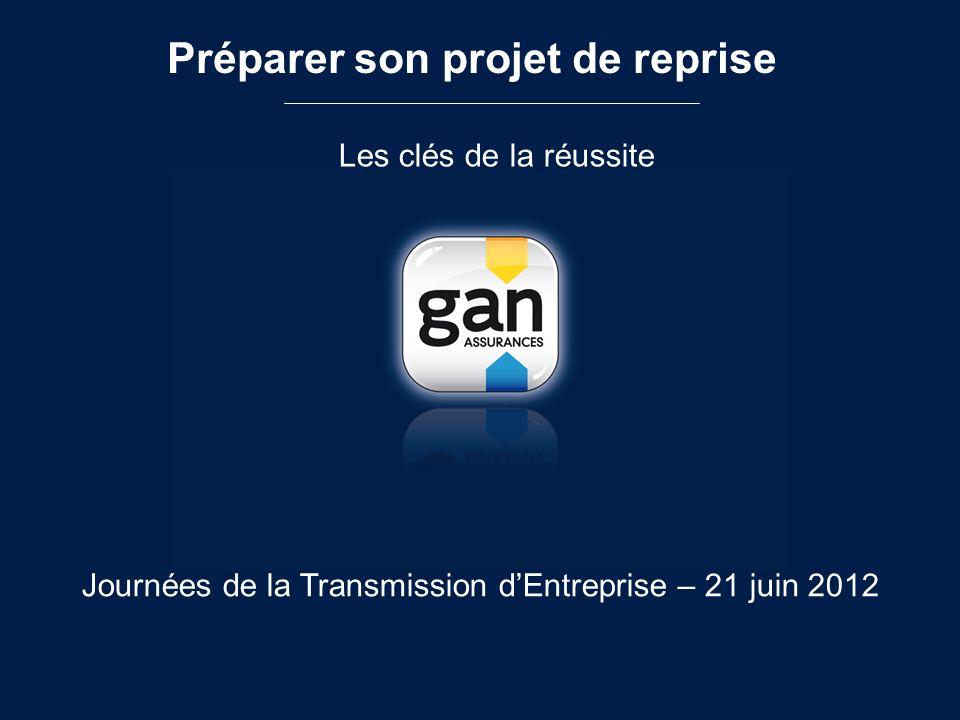 Préparer son projet de reprise Les clés de la réussite Journées de la Transmission dEntreprise – 21 juin 2012
