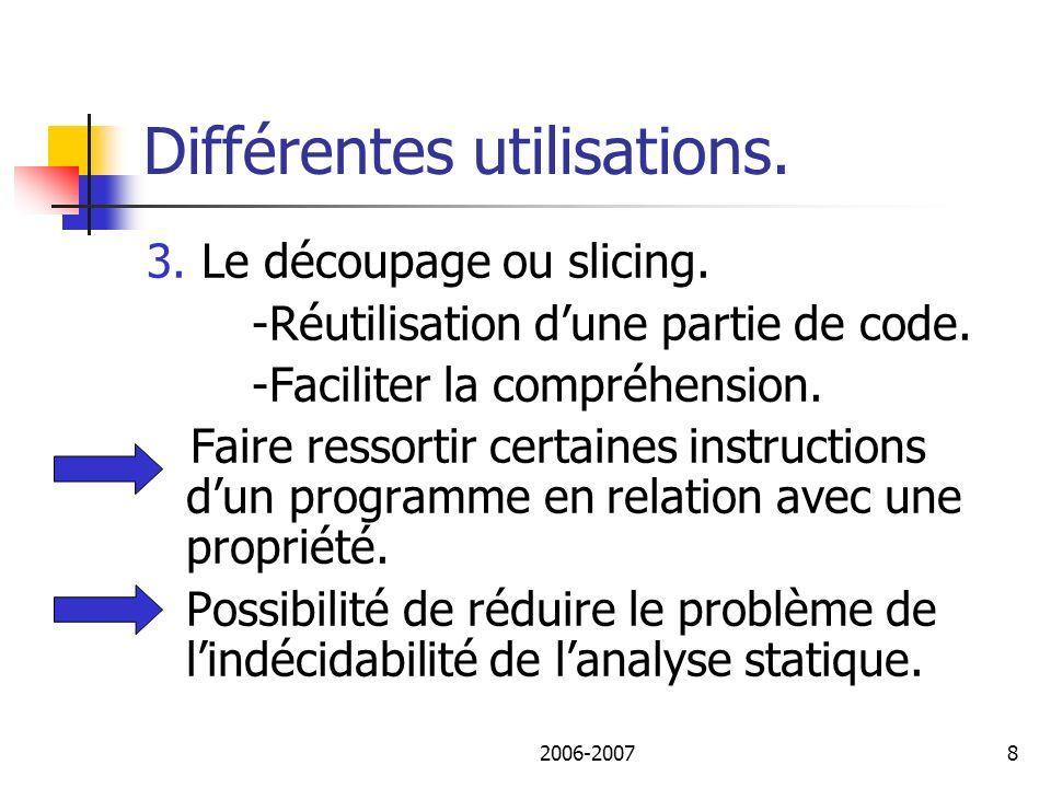 2006-20079 Différentes utilisations. 4. Politique de sécurité. Recherche de codes malicieux.