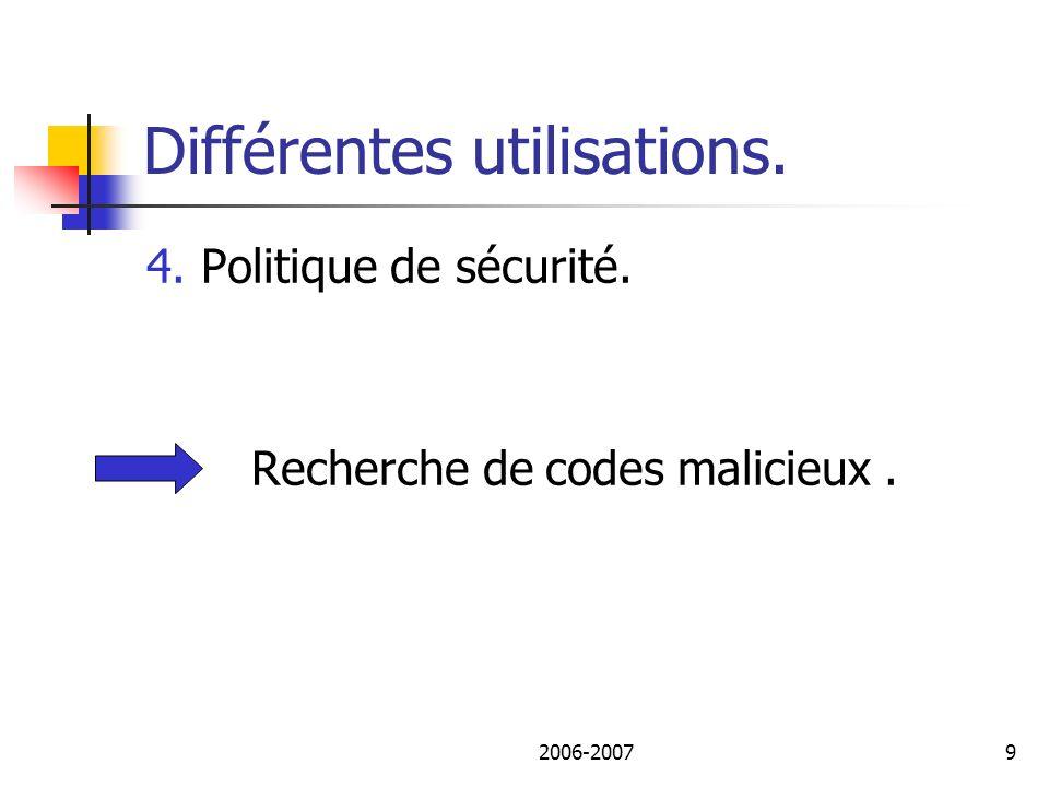 2006-200710 Plan de lexposé I.Différentes utilisations des outils.