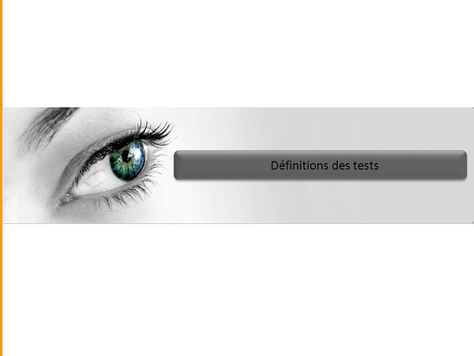 Définitions des tests
