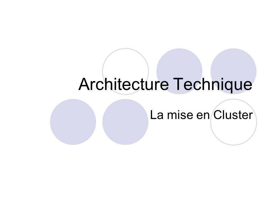 Définition Les technologies de mise en cluster permettent à plusieurs serveurs de travailler à l unisson et d offrir l apparence d un environnement informatique unique.