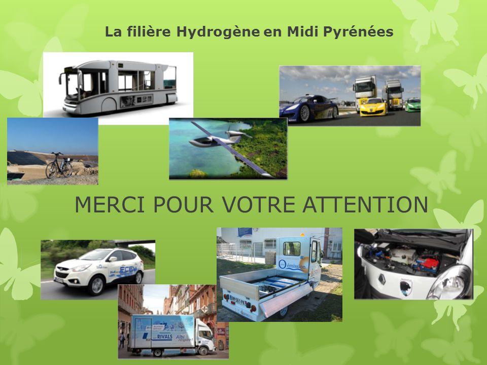 La filière Hydrogène en Midi Pyrénées MERCI POUR VOTRE ATTENTION