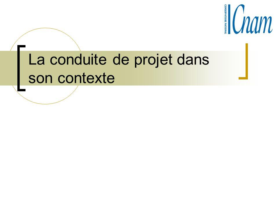 La conduite de projet dans son contexte