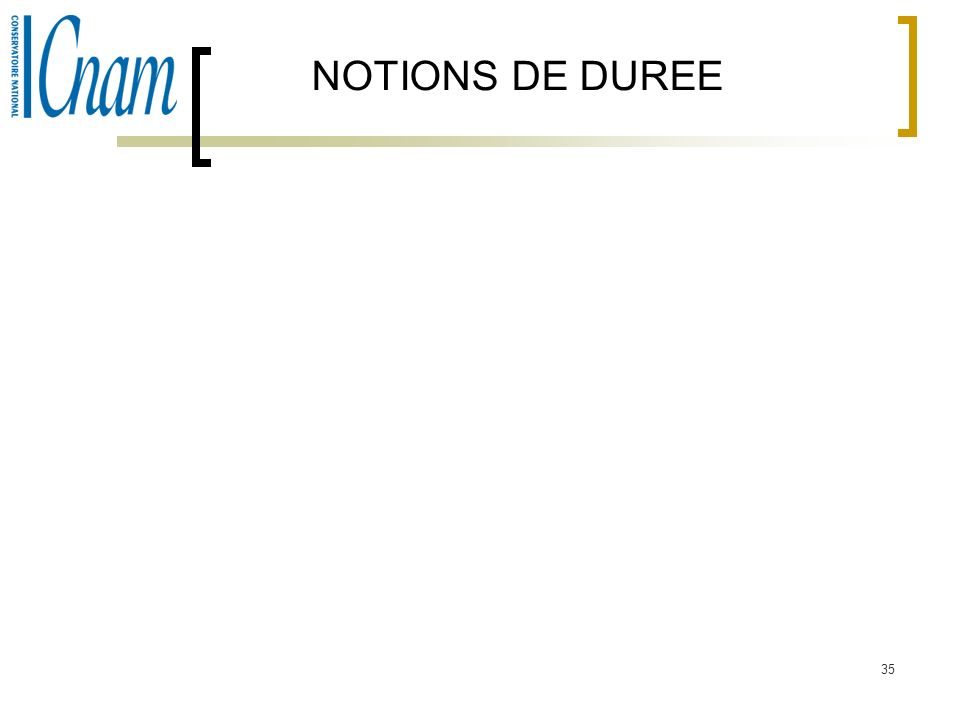35 NOTIONS DE DUREE
