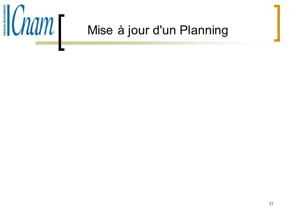 53 Mise à jour d'un Planning