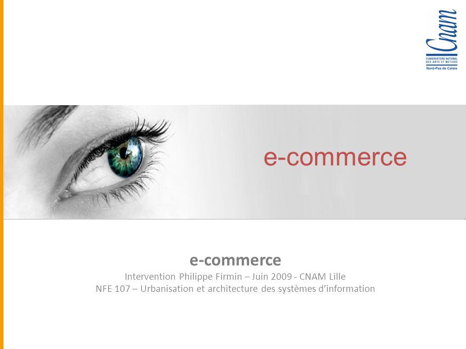 Quadra Informatique e-commerce Intervention Philippe Firmin – Juin 2009 - CNAM Lille NFE 107 – Urbanisation et architecture des systèmes dinformation