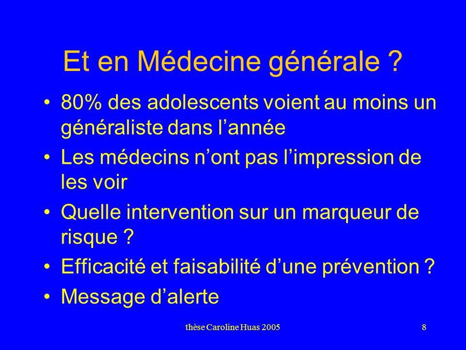 thèse Caroline Huas 20058 Et en Médecine générale .
