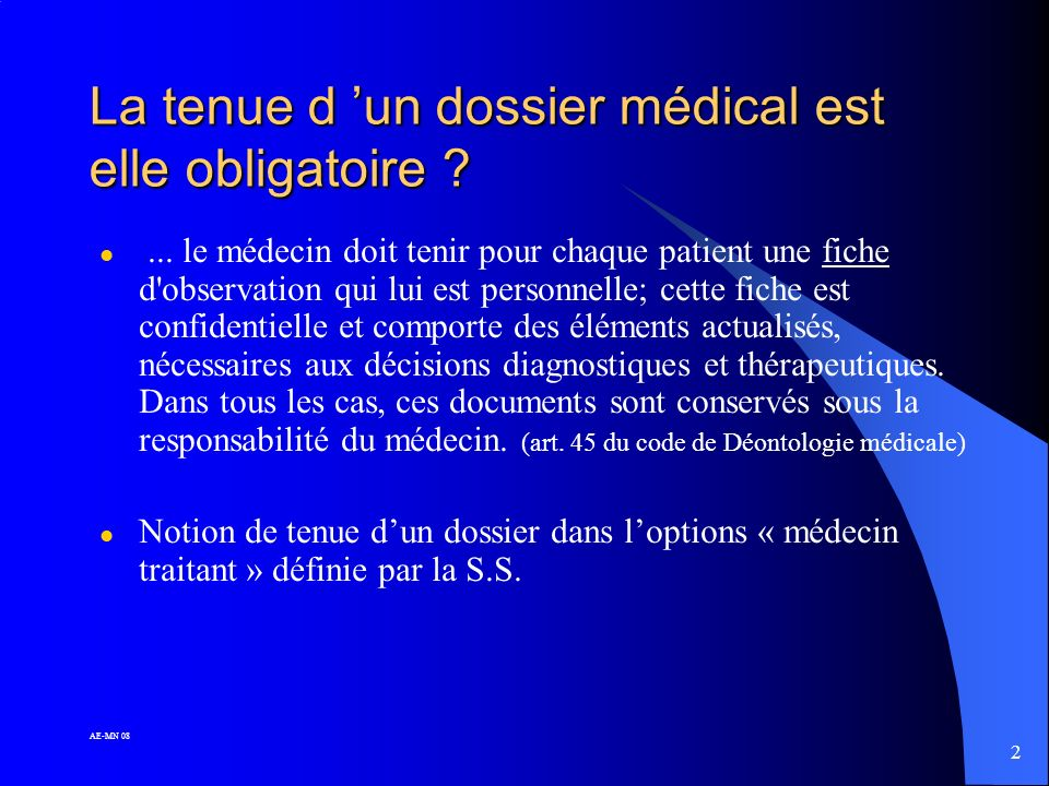 32 AE-MN 08 LE DOSSIER MÉDICAL INFORMATISÉ
