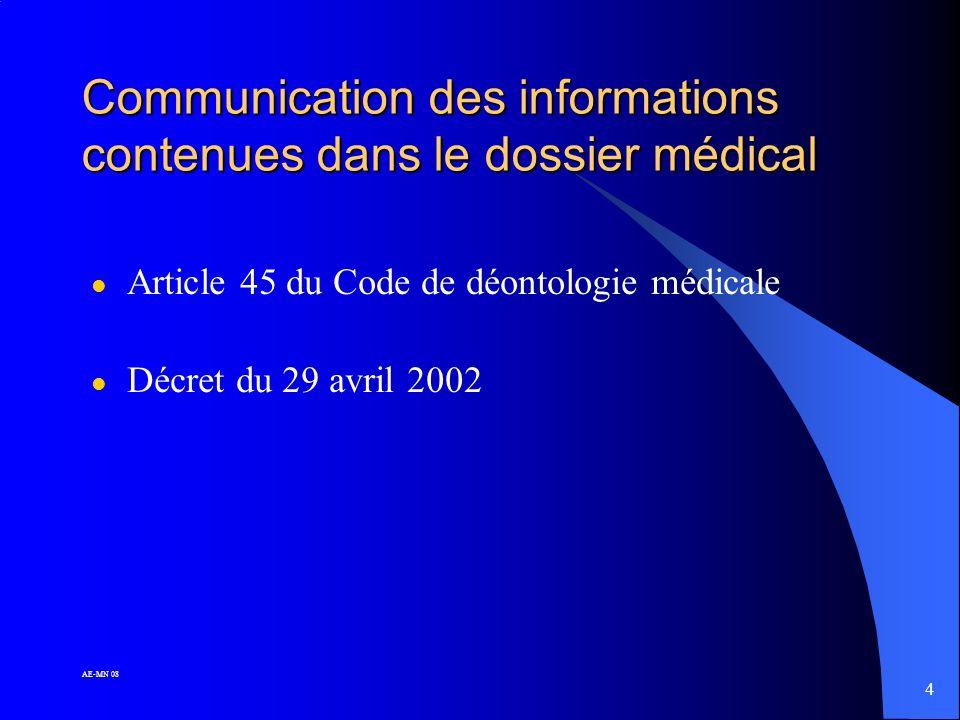34 AE-MN 08 Le DMP : dossier médical partagé l Pourquoi .