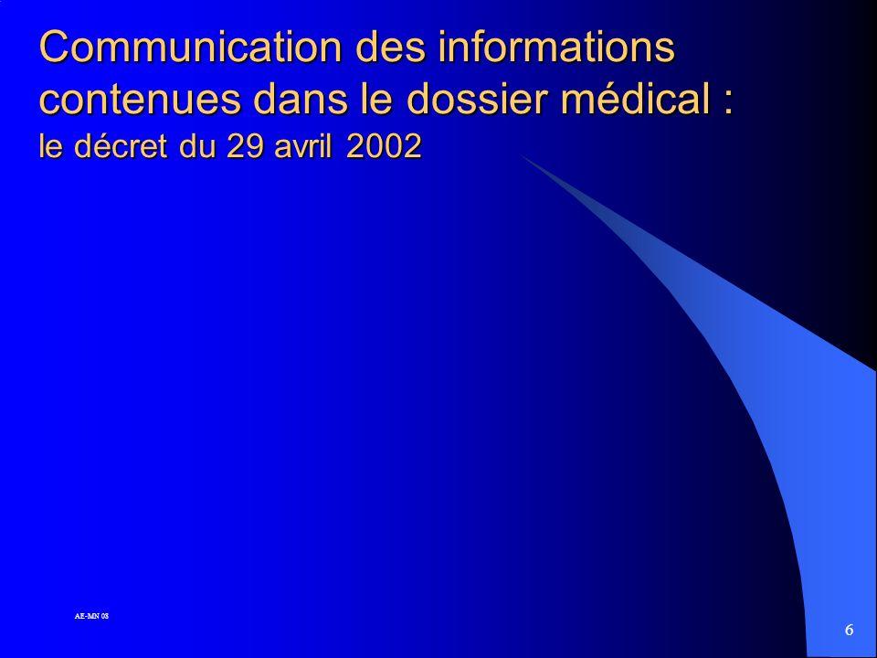 5 AE-MN 08 Article 45 du Code de déontologie médicale : l