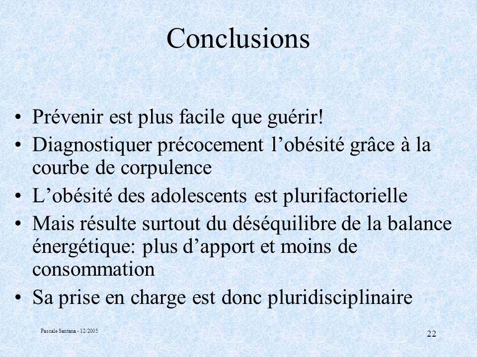 Pascale Santana - 12/2005 22 Conclusions Prévenir est plus facile que guérir.