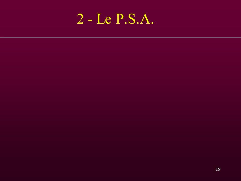 19 2 - Le P.S.A.