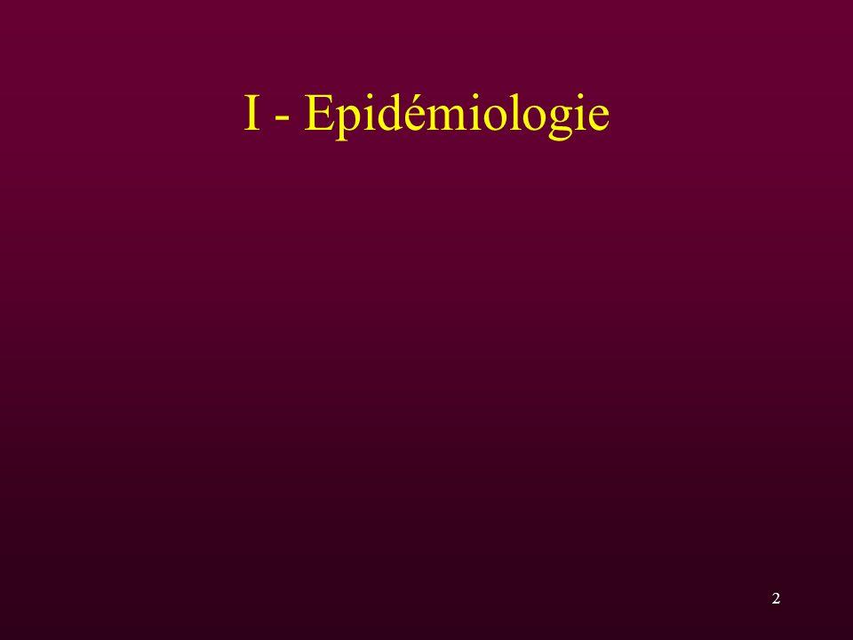 2 I - Epidémiologie