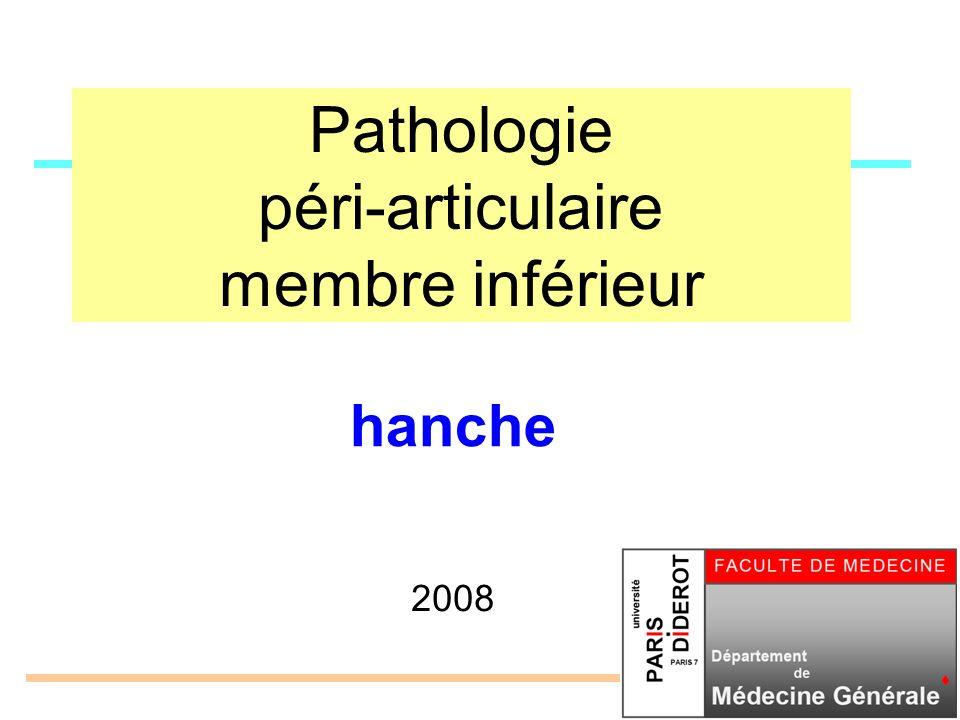 Pathologie péri-articulaire membre inférieur 2008 hanche