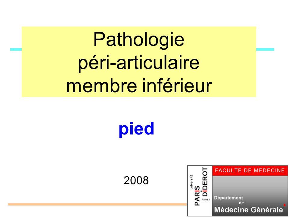 Pathologie péri-articulaire membre inférieur 2008 pied