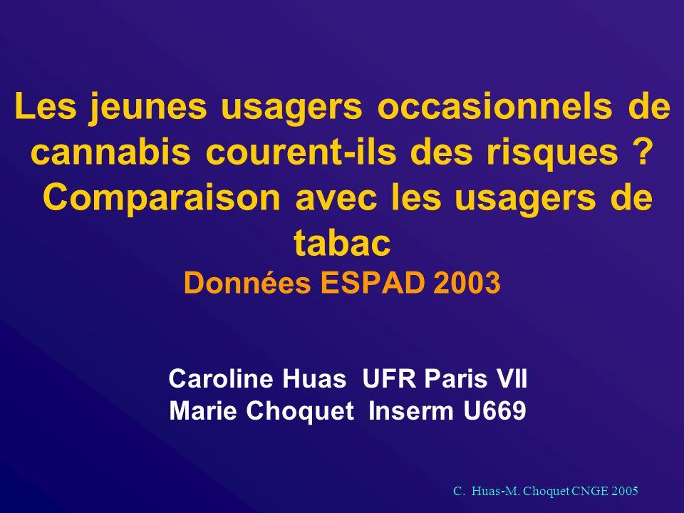 C. Huas-M. Choquet CNGE 2005 Les jeunes usagers occasionnels de cannabis courent-ils des risques .