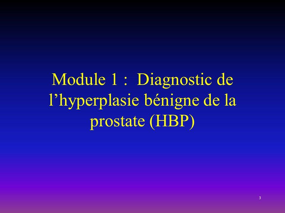 Module 1 : Diagnostic de lhyperplasie bénigne de la prostate (HBP) 3