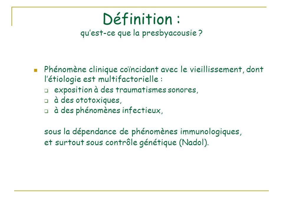 Définition : quest-ce que la presbyacousie .
