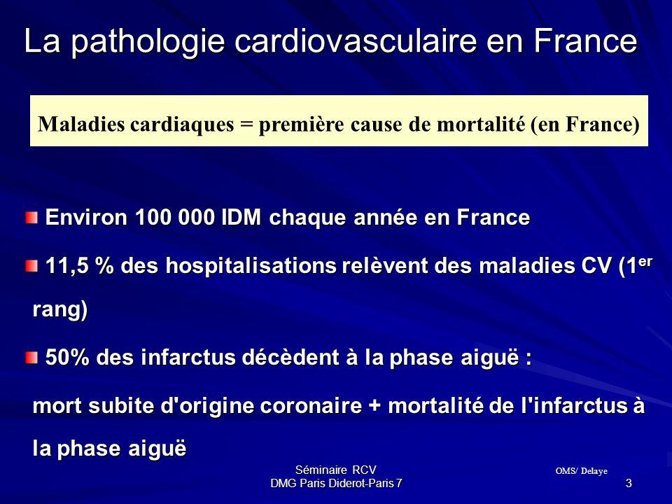 Séminaire RCV DMG Paris Diderot-Paris 7 3 Environ 100 000 IDM chaque année en France Environ 100 000 IDM chaque année en France 11,5 % des hospitalisa