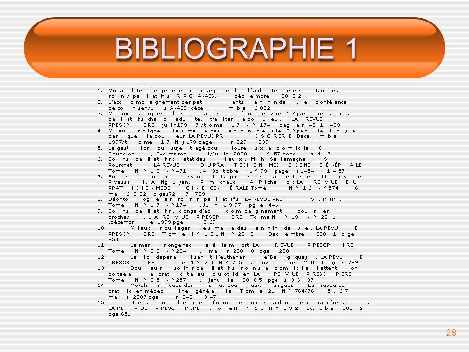 28 BIBLIOGRAPHIE 1