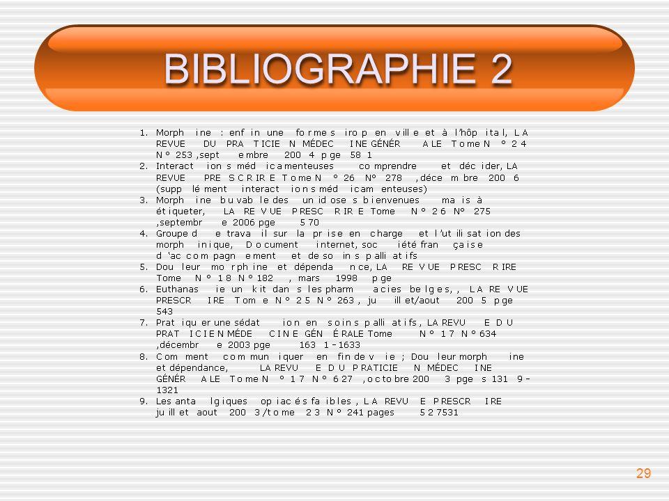 29 BIBLIOGRAPHIE 2