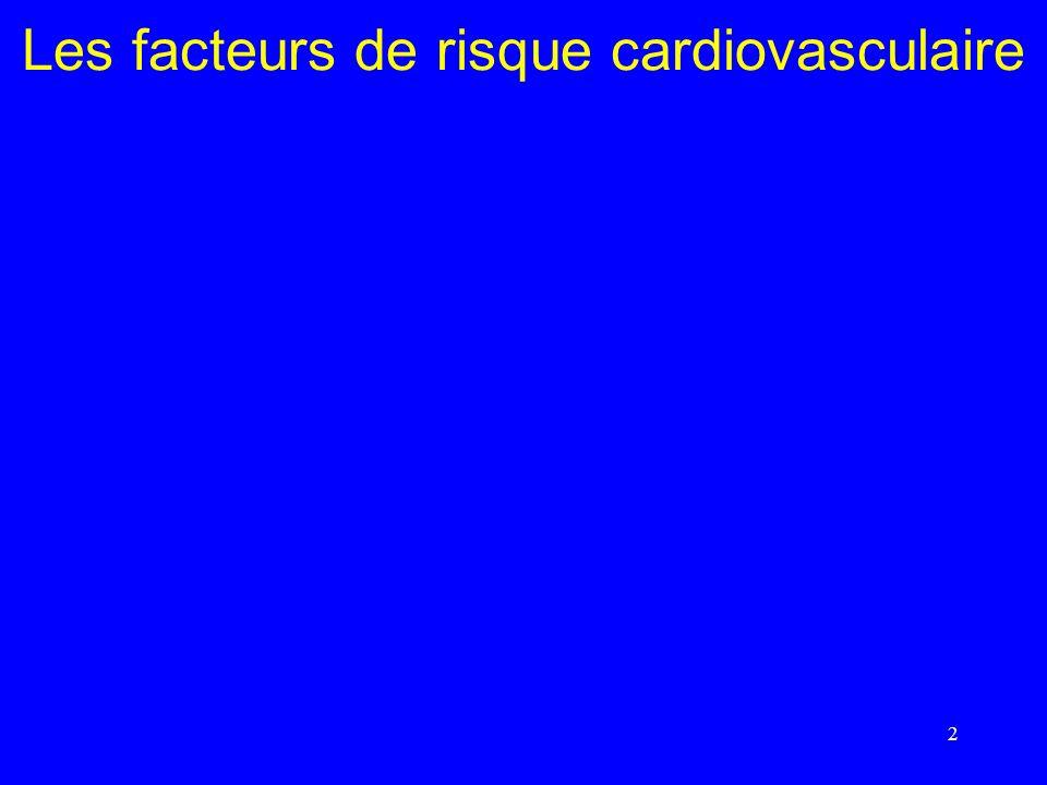2 Les facteurs de risque cardiovasculaire