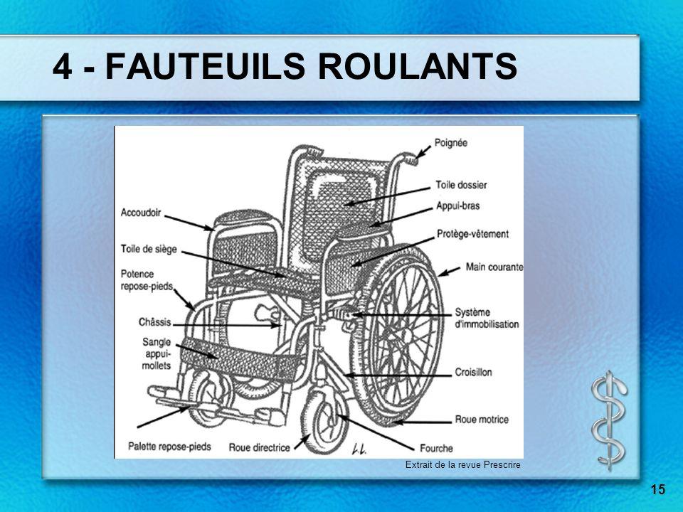 15 4 - FAUTEUILS ROULANTS Extrait de la revue Prescrire