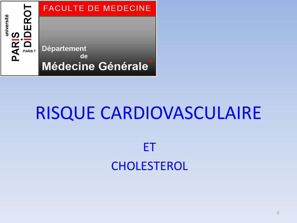 RISQUE CARDIOVASCULAIRE ET CHOLESTEROL 6
