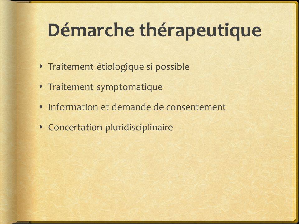 Démarche thérapeutique 1.