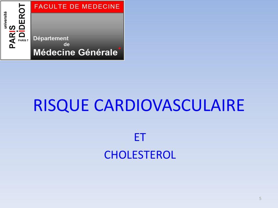 RISQUE CARDIOVASCULAIRE ET CHOLESTEROL 5