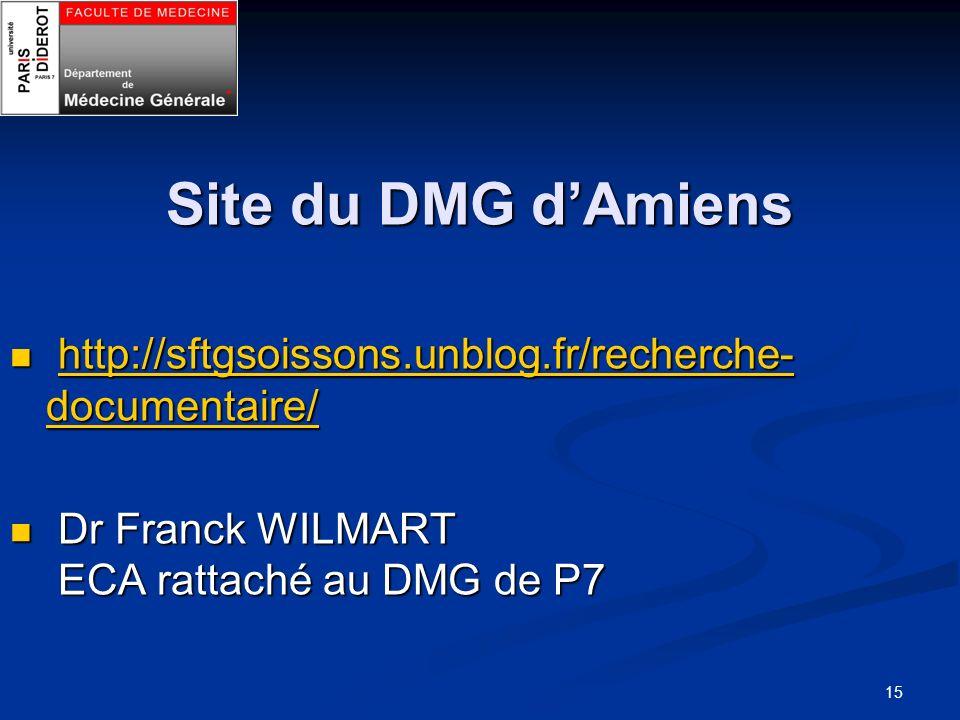 Site du DMG dAmiens http://sftgsoissons.unblog.fr/recherche- documentaire/ http://sftgsoissons.unblog.fr/recherche- documentaire/http://sftgsoissons.u