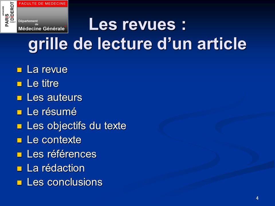 Site du DMG dAmiens http://sftgsoissons.unblog.fr/recherche- documentaire/ http://sftgsoissons.unblog.fr/recherche- documentaire/http://sftgsoissons.unblog.fr/recherche- documentaire/http://sftgsoissons.unblog.fr/recherche- documentaire/ Dr Franck WILMART ECA rattaché au DMG de P7 Dr Franck WILMART ECA rattaché au DMG de P7 15